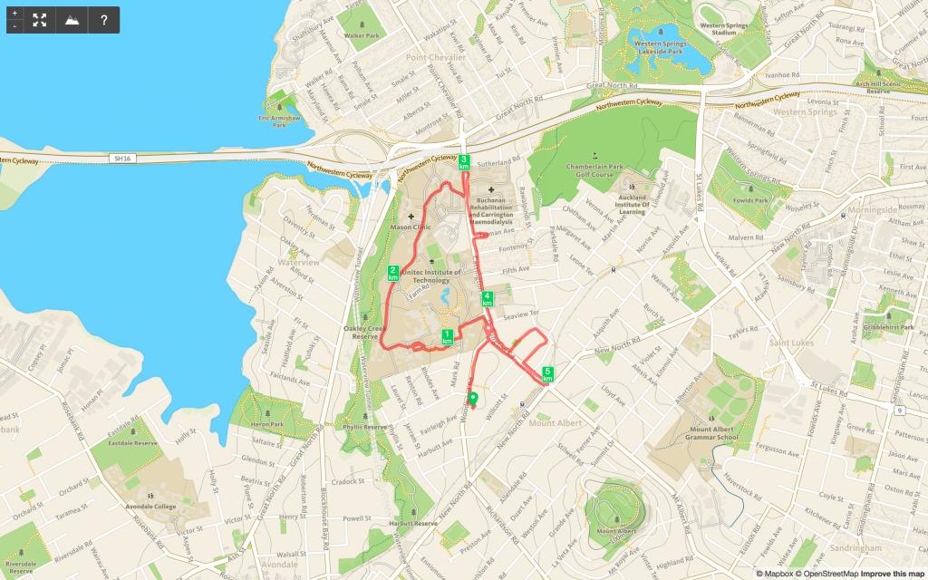 Chaitanya's WWWP 5K Run Map