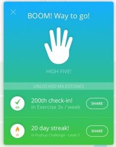 200th workout milestone